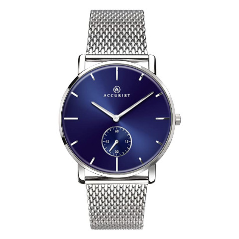 Accurist - Mens Stainless Steel Japanese Quartz Watch With Mesh Bracelet 7126