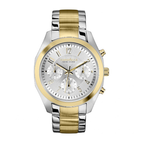 Caravelle New York - Caravelle Ny Gold Women's Quartz Watch With Two Tone Stainless Steel Bracelet 45l136