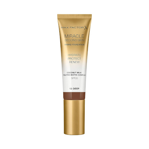 Max Factor - Miracle Touch Second Skin Hydrating Foundation Deep, 30 Ml